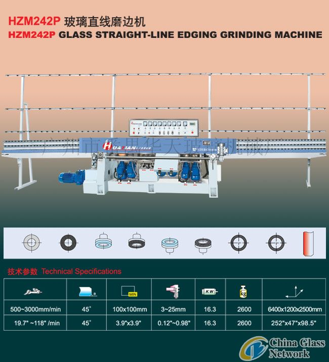 HZM SERIES GLASS STRAIGHT-LINE EDGING GRINDING MACHINE