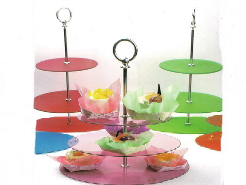 Glass fruit holder,cakes collecting,glass tableware