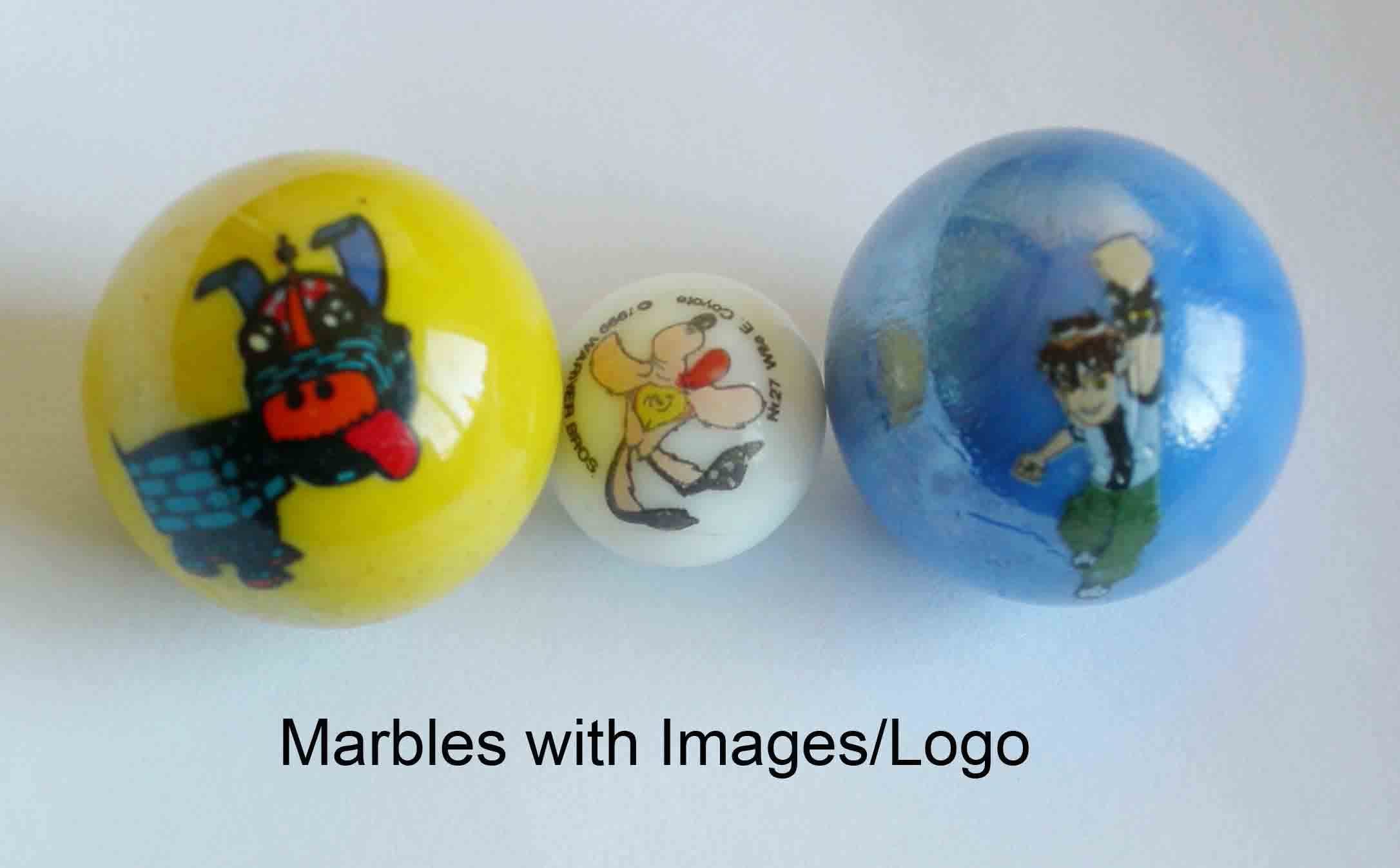 printed glass marble