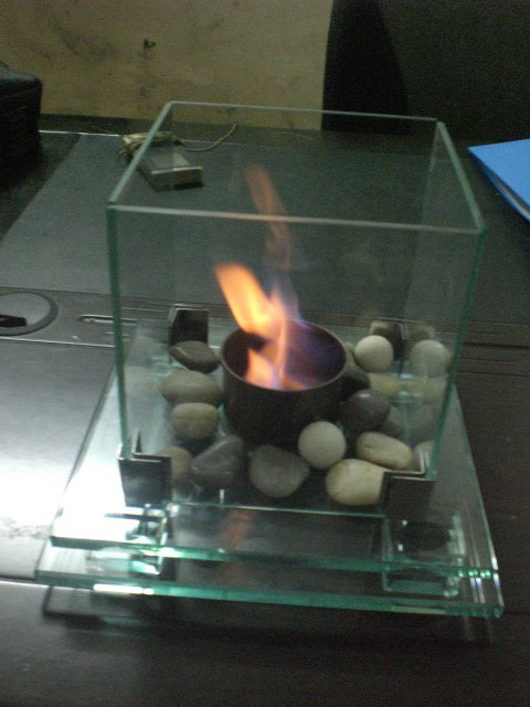 glass fireplace RX1018