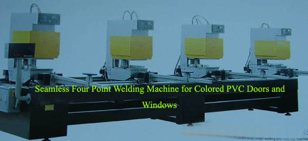 Seamless Four Point Welding Machine for Colored PVC Doors and Windows