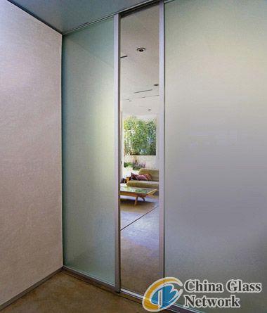 Acid etched door
