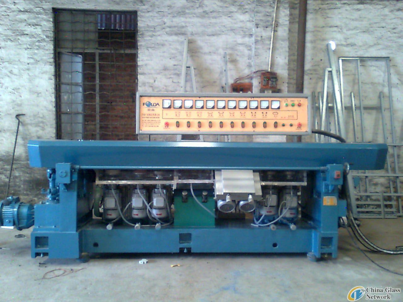 nine wheels glass straight line edging machine