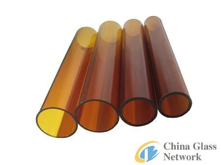 borosilicate colored glass tube(Amber)