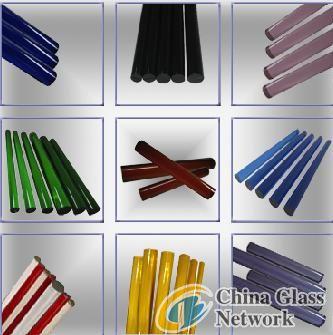 Colored borosilicate glass rod
