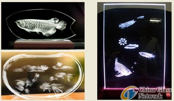 YAG 3d photo crystal craft laser engraver