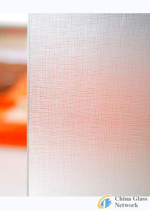decorative acid etched glass/HG-037