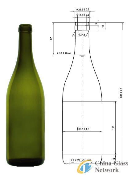 burgendy bottle