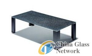 Silver glass table