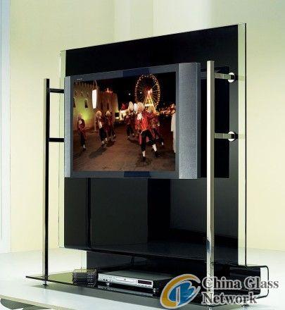 Glass TV base