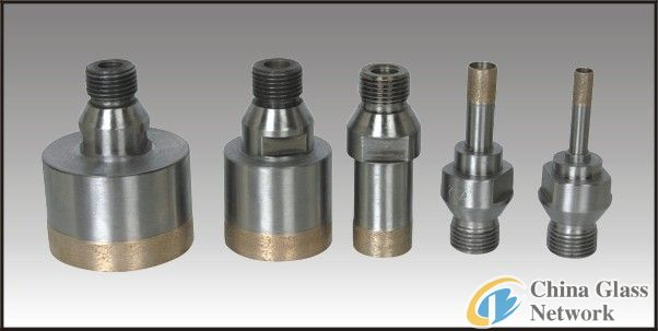 threaded shank drill bit L75/ diamond glass drill bits/drill bits for glass processing/core drill