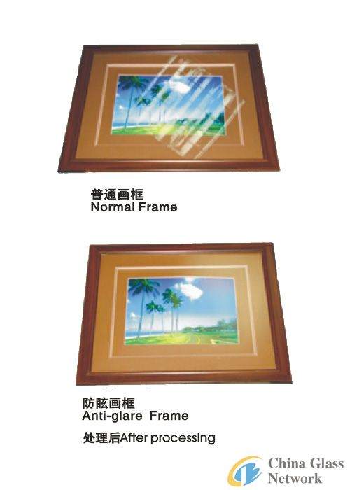Anti reflective glass used for advanced photo frame and industrial instrument