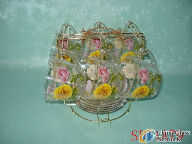 Mum Glass Cup & Saucer