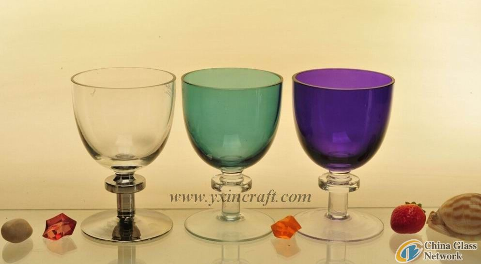 Glass candle holder, glass stand, glass cup