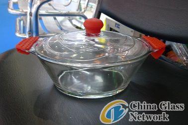 Borosilicate glass pot