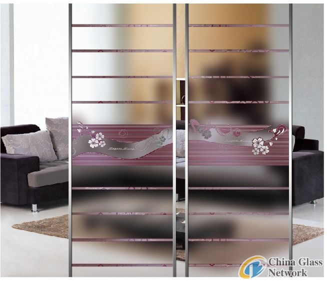 sliding door glass/home decorative glass/partition glass/background wall glass/TJ-weimei
