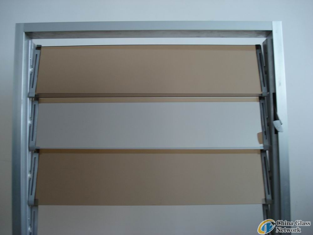 bronze reflective louver window glass