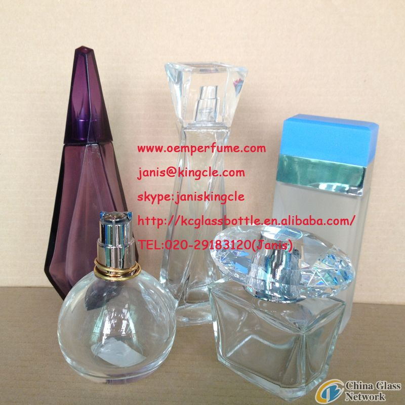 china glass perfume bottels
