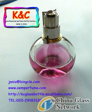 professional glass perfume bottles with pump