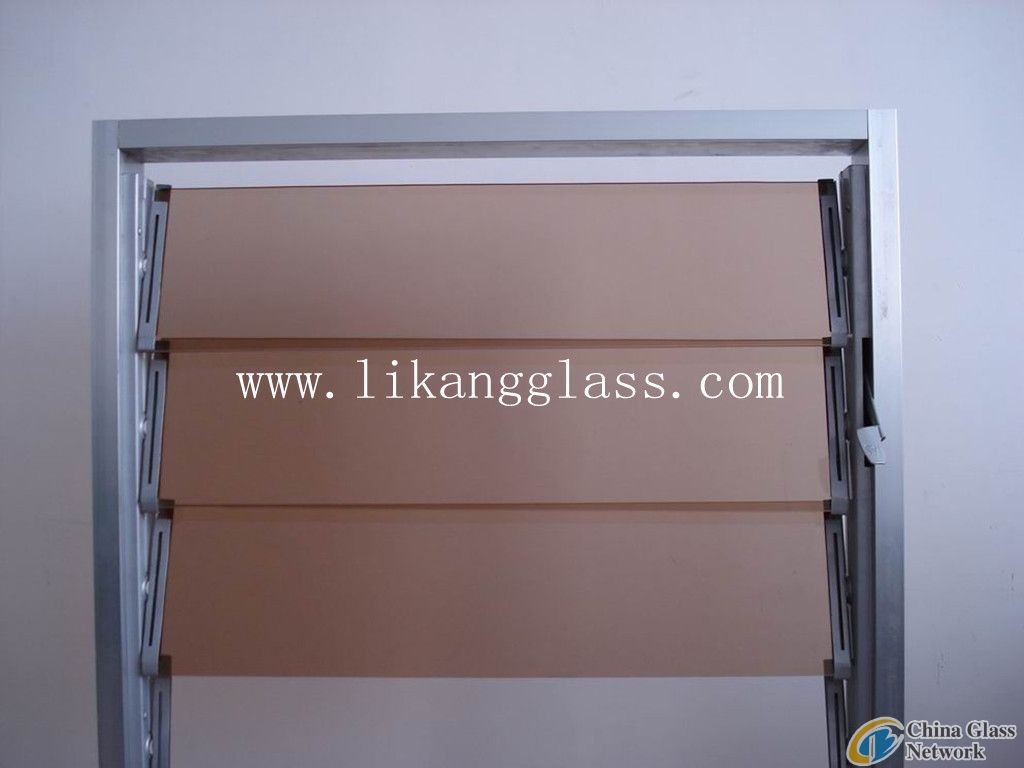 colored louver glass
