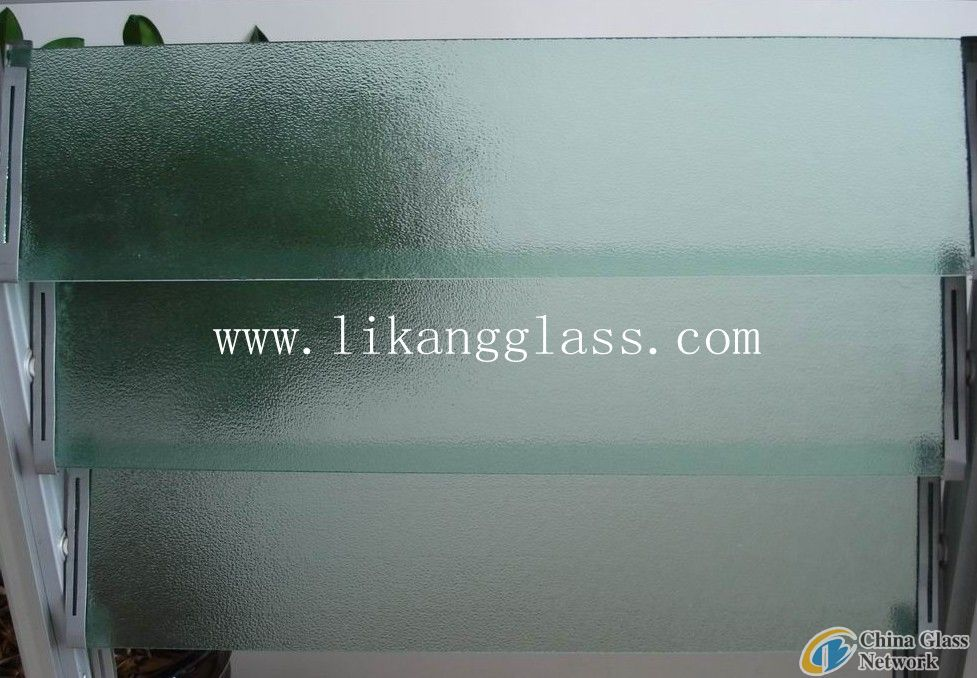 clear patterned louver glass