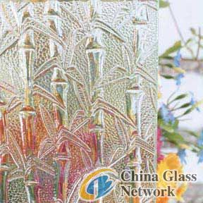 clear bamboo patten glass
