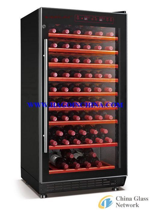 wine cooler insulated glass door