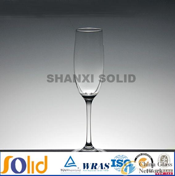 handmade clear wine glass wine