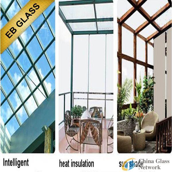 Adjustable Temperature control smart glass, EB GLASS
