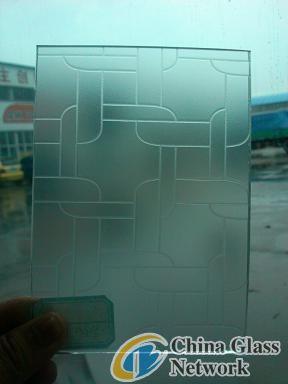 3-12mm acid etche glass