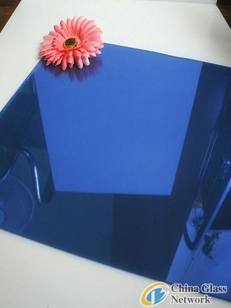 4mm Dark Blue Reflective Glass