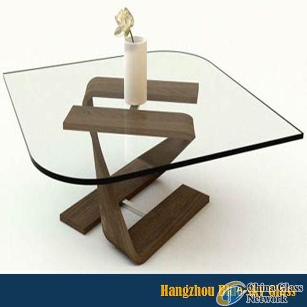 Special shaped Tempered Glass for sleek and elegant table design Furniture