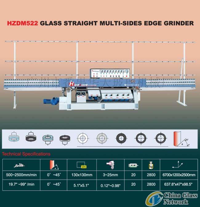 HZDM522 Glass Straight-Line Multi Edge Grinder
