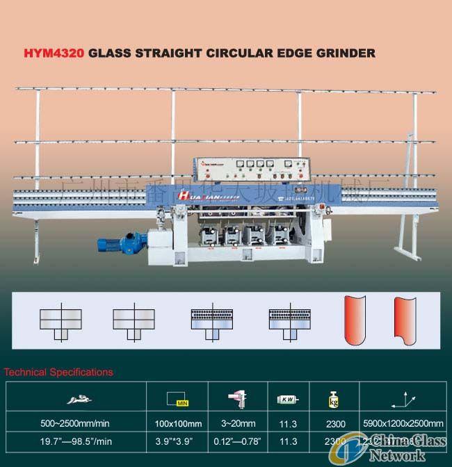 HYM4320 Glass Straight-Line Circular Edging Machine