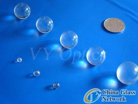 optical H-K9I glass off-the shelf ball lens/sphere