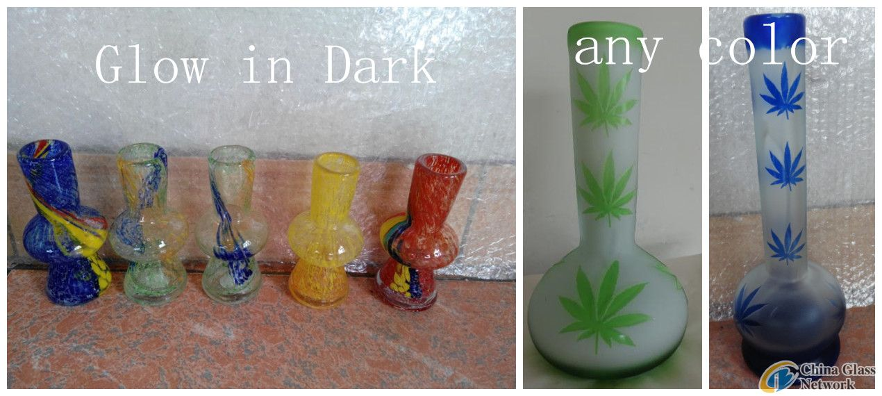 smoking water pipes of glass hookah vase