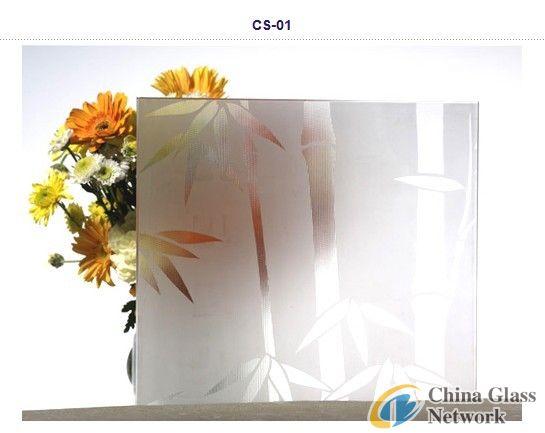 3mm Firgured Acid Etched Glass