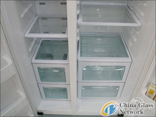 wholesale clear 4mm refrigerator  glass  shelf with pattern