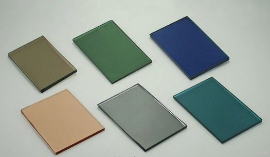 bronze, green , blue, grey reflective float glass