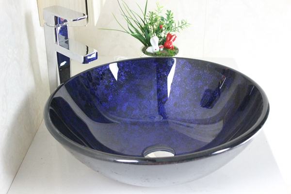 hand painted Glass basin set n-254