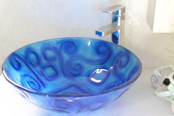 Modern Bathroom Glass Basin n-258
