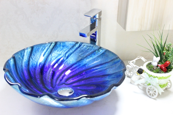 Modern Bathroom Glass Basin n-259