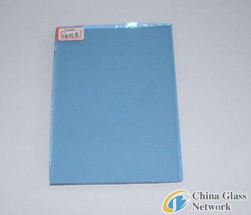 light blue flat glass