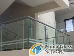 Tempered balustrade glass