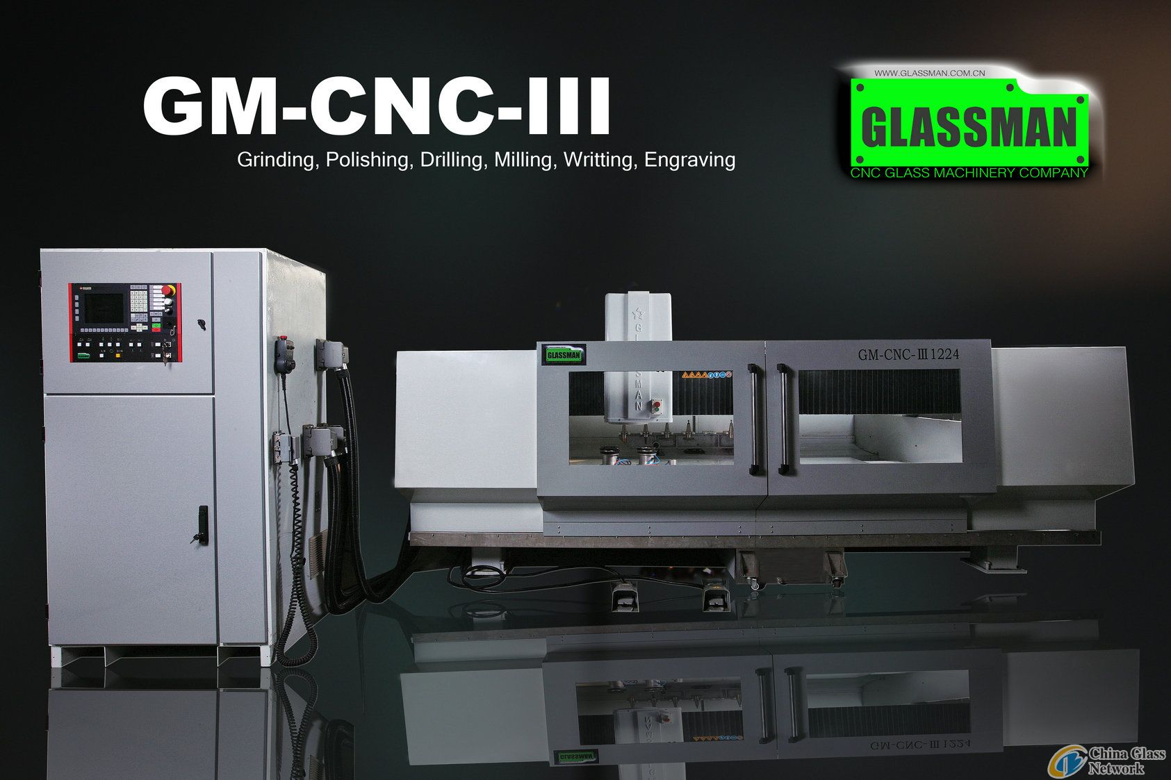 CNC glass working center