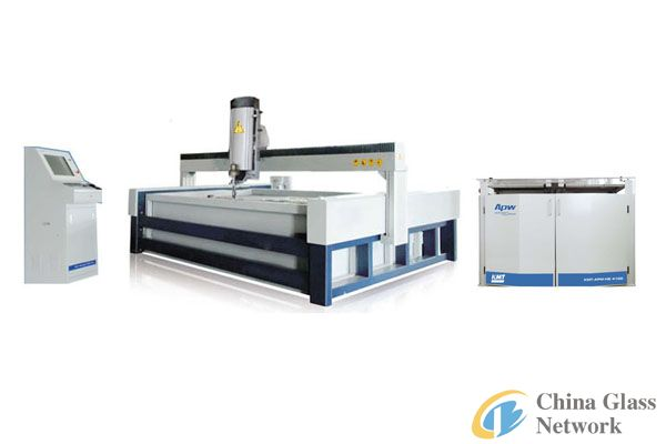 CNC ultra-high pressure waterjet cutting machine with bridge sytle and 410Mpa KMT HP pump