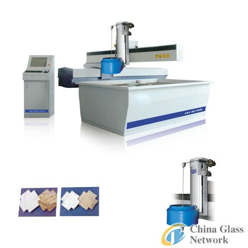 CNC waterjet cutting machine with four-axis cutting head