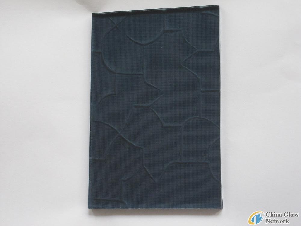 4mm 5mm 6mm Dark Grey Karatachi Figured Pattern Glass