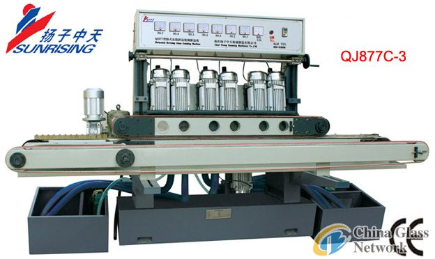 QJ877C-3 Horizontal straight line glass beveling machine