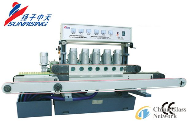QJ877D Horizontal straight circular edge glass grinding machine